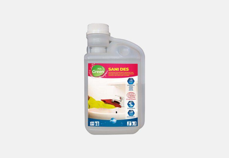 PolGreen Sani DES ontkalker en desinfecterend middel voor sanitair